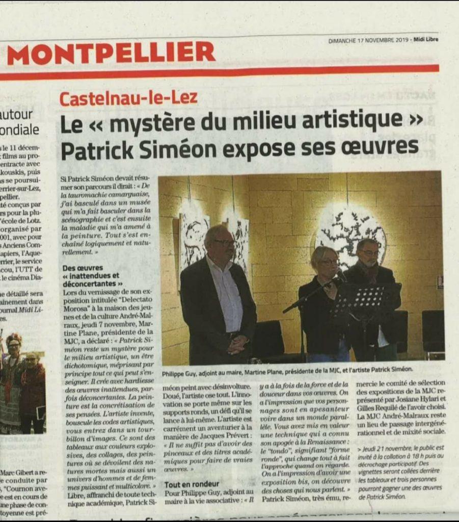 Castelnau-le-Lez - Espace MJC - Octobre 2019 - Delectatio Morosa - Midi Libre
