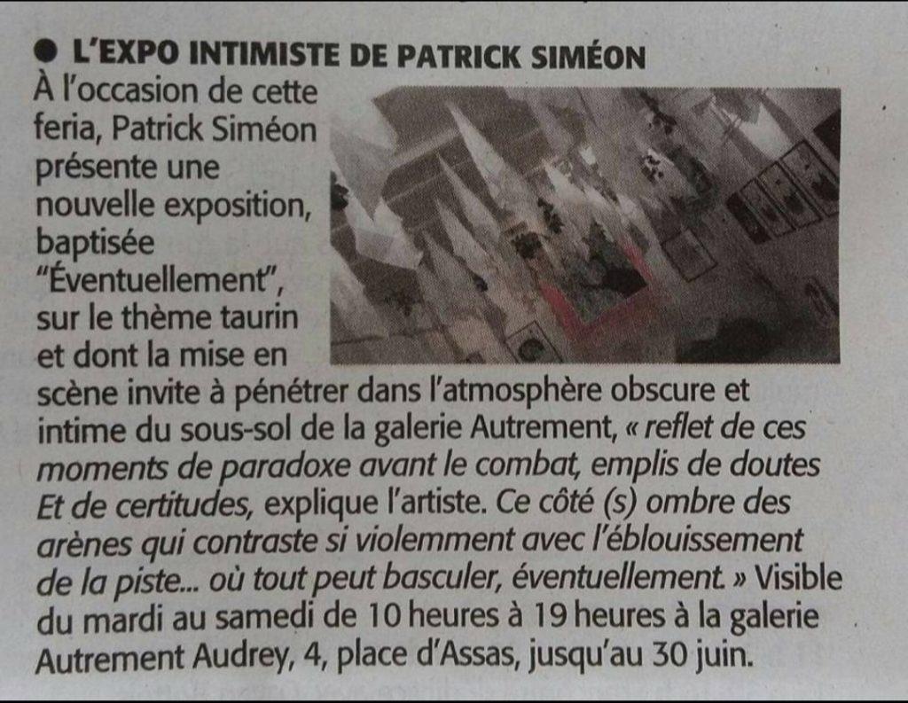 Nîmes - Galerie Audrey Carbo - Juin 2017 - Eventuellement - Midi Libre