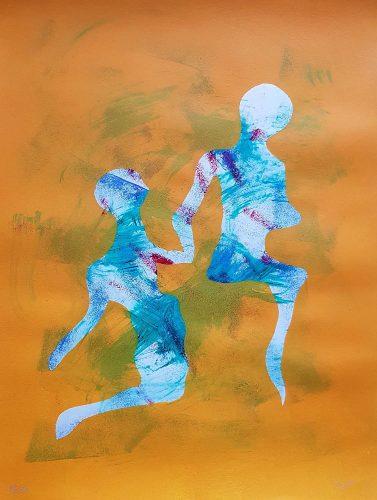1 - Délectatio Morosa - Acrylique sur papier dessin - format 65 X 50 cm. 50 €