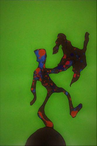103 - Acrylique sur papier de macule d'impression - Format 70 X 50 cm - Collection privée