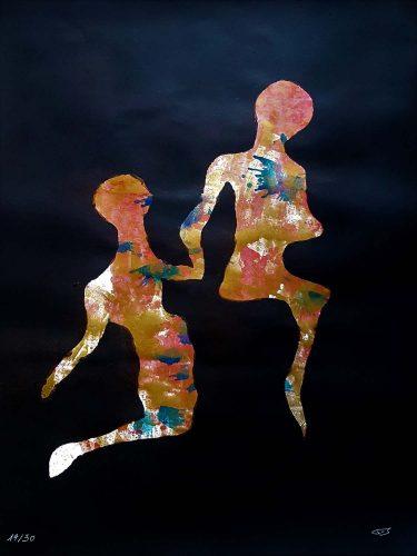 14 - Délectatio Morosa - Acrylique sur papier dessin - format 65 X 50 cm. 50 €