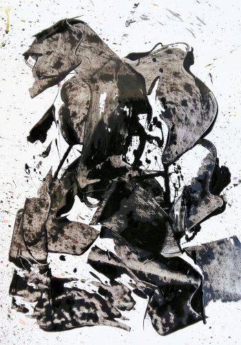 155 - Acrylique sur papier brillant - Format 92 X 65 cm. - 400 €