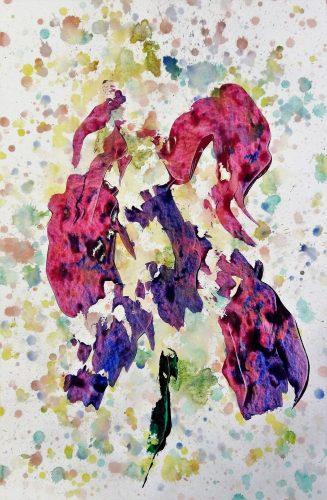 165 - Acrylique sur papier dessin - Format 92 X 74 cm. - 400 €