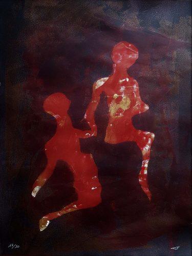 17 - Délectatio Morosa - Acrylique sur papier dessin - format 65 X 50 cm. 50 €