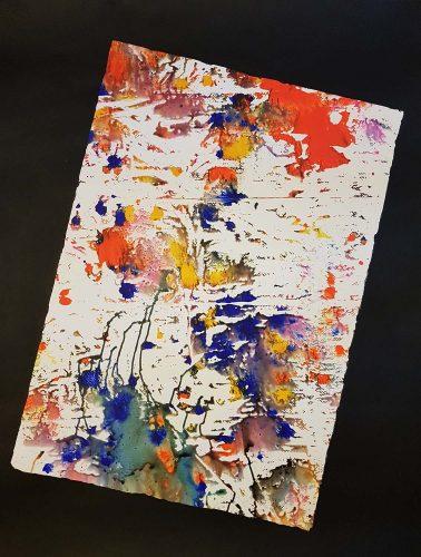 Acrylique sur papier dessin renforcé - Format 150 X 100 cm - 400 €
