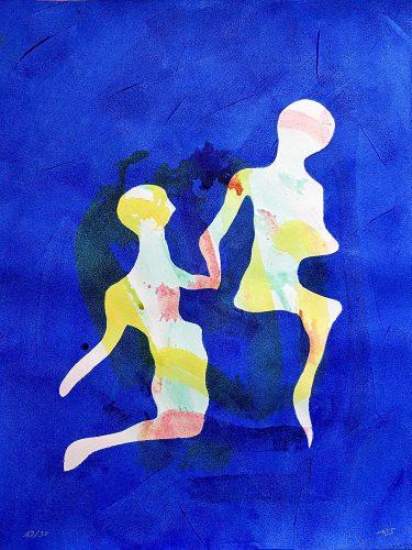 19 - Délectatio Morosa - Acrylique sur papier dessin - format 65 X 50 cm. 50 €
