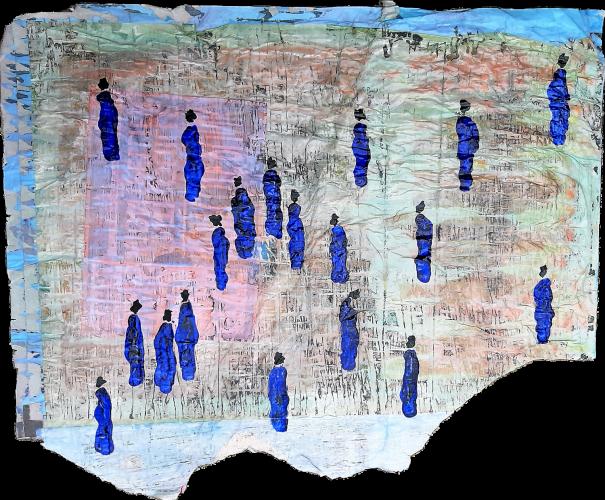 191 - Mọkanla - Acrylique sur revers d'affichage public - Format 81 X 102 cm - 800 €