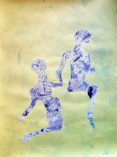 2 - Délectatio Morosa - Acrylique sur papier dessin - format 65 X 50 cm. 50 €