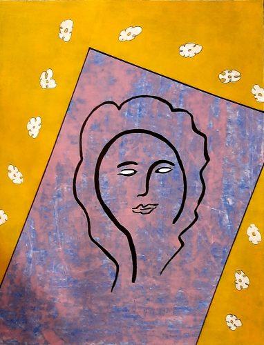N8 - Bella dona - Acrylique sur papier dessin - Dim. 65X50 cm. - 250 €