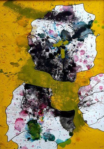 N11 - Flores - Acrylique sur papier dessin - Dim. 70X50 cm. - 250 €