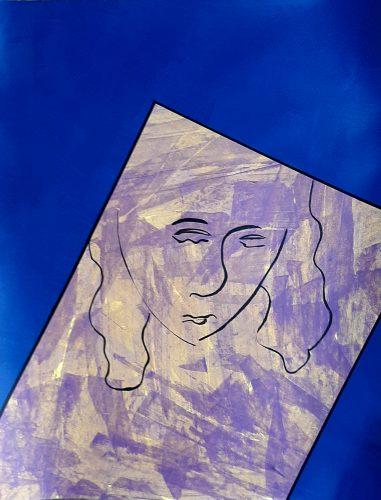 N7 - Bella dona - Acrylique sur papier dessin - Dim. 65X50 cm. - 250 €