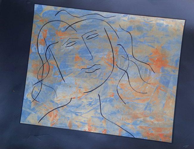 N1 - Bella dona - Acrylique sur papier dessin - Dim. 50X65 cm. - 250 €