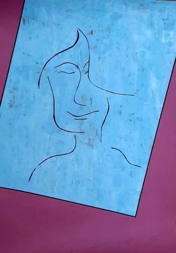 N2 - Bella dona - Acrylique sur papier dessin - Dim. 65X50 cm. - 250 €