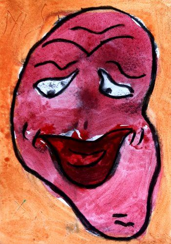 8 - Peuchère - Acrylique et fusain sur papier dessin - Format 21X30 cm. - 50 €