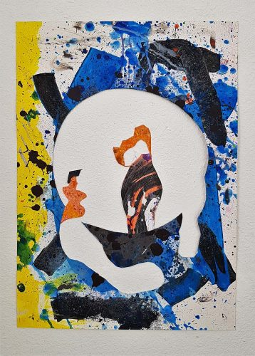 217 - Découpage et montage d'acrylique sur papier - Collection privée