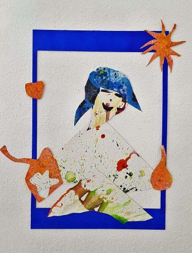 218 - Découpage et montage d'acrylique sur papier - Collection privée
