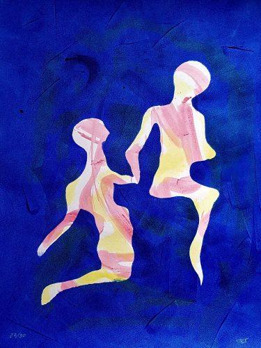 22 - Délectatio Morosa - Acrylique sur papier dessin - format 65 X 50 cm. 50 €