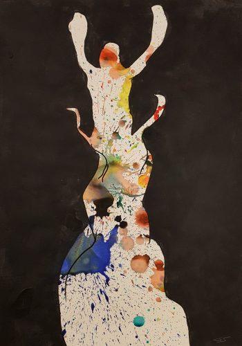227 - Acrylique sur papier dessin - Format 70 X 50 cm. - 250 €