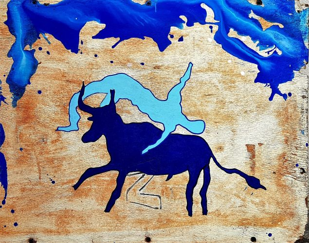 231 - Acrylique sur bois - Format 86 X 88 cm. - 200 €