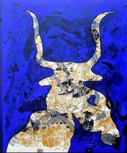 237 - Acrylique sur bois - Format 88 X 86 cm. - 200 €