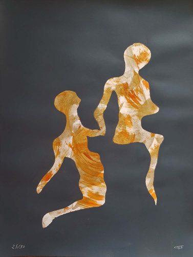 25 - Délectatio Morosa - Acrylique sur papier dessin - format 65 X 50 cm. 50 €
