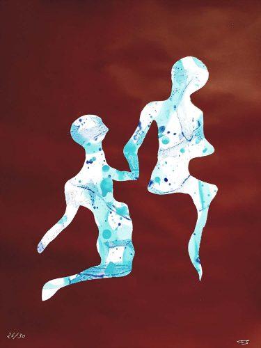 26 - Délectatio Morosa - Acrylique sur papier dessin - format 65 X 50 cm. 50 €