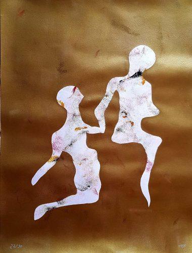 27 - Délectatio Morosa - Acrylique sur papier dessin - format 65 X 50 cm. 50 €