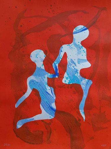 28 - Délectatio Morosa - Acrylique sur papier dessin - format 65 X 50 cm. 50 €