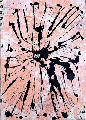 290 - Acrylique sur revers d'affichage urbain - Format 70 X 50 cm. - 250 €