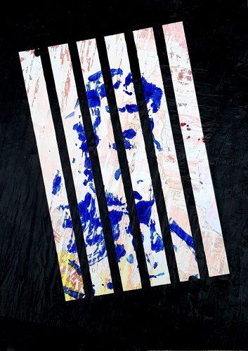 293 - Acrylique sur revers d'affichage urbain - Format 70 X 50 cm. - 250 €