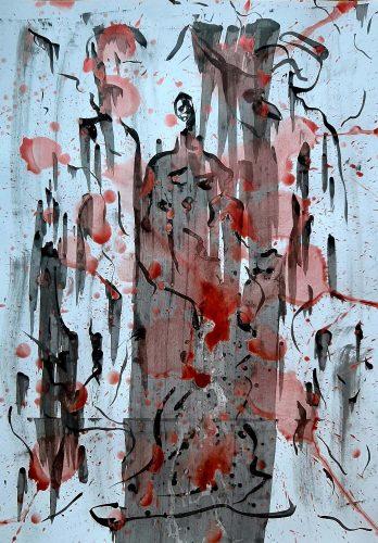 Acrylique sur papier dessin - Format 70 X 50 cm - 250 €