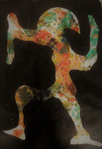 Acrylique sur papier cartonné - Format 90 X 60 cm - 400 €