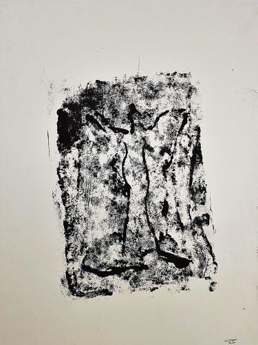 74 - Acrylique sur papier de macule d'impression - Format 70 X 50 cm. - 250 €