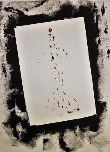 75 - Acrylique sur papier de macule d'impression - Format 70 X 50 cm. - 250 €