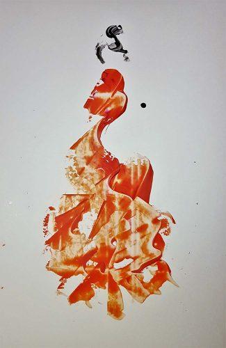 81 - Acrylique sur papier renforcé - Format 90 X 70 cm - Collection privée