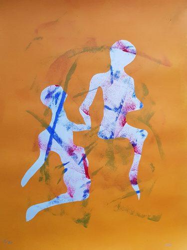 9 - Délectatio Morosa - Acrylique sur papier dessin - format 65 X 50 cm. 50 €