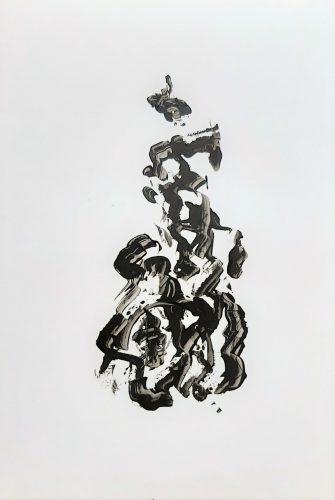 91 - Acrylique sur papier renforcé - Format 92 X 65 cm. - 400 €