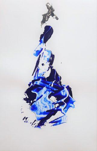 94 - Acrylique sur papier renforcé - Format 92 X 65 cm. - 400 €